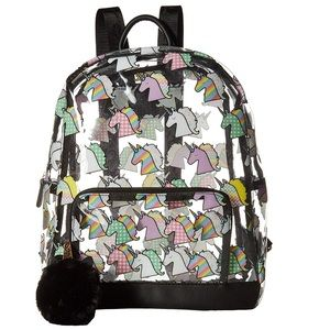 Betsey Johnson Clear Unicorn Backpack